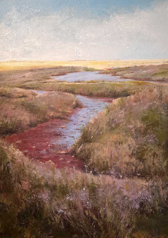 Brancaster Salt Marshes – Pastel