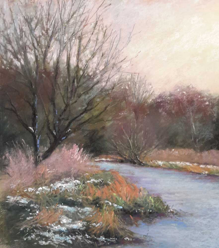 Snow Nearly Gone – Pastel