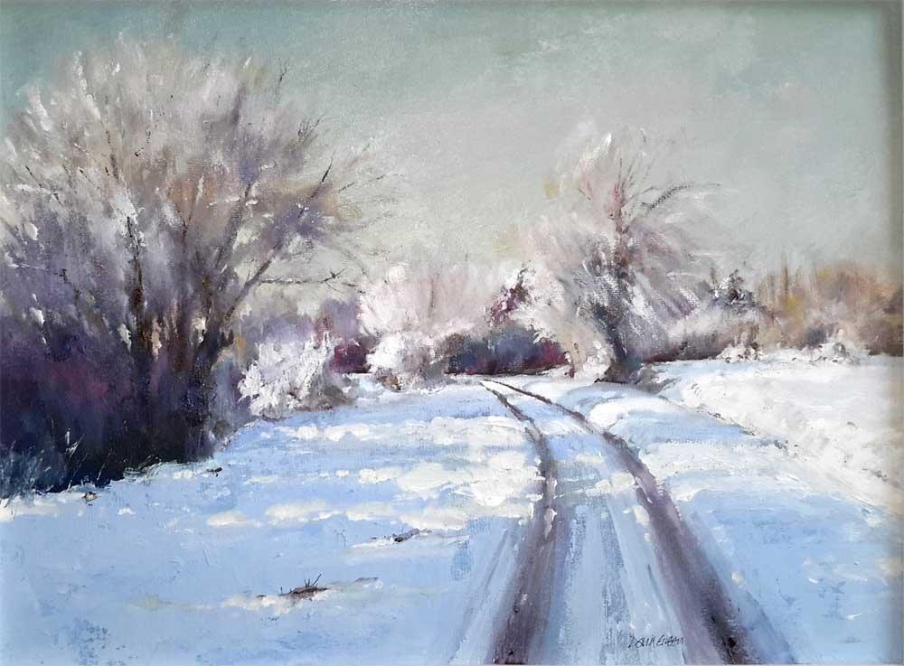 Tracks in the Snow – Oil