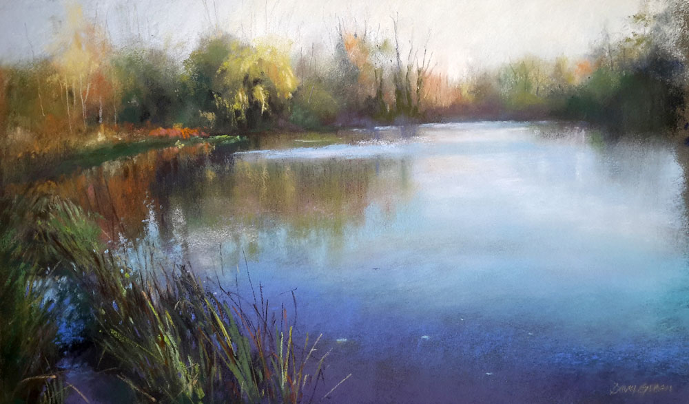 Blue Reflections – Pastel