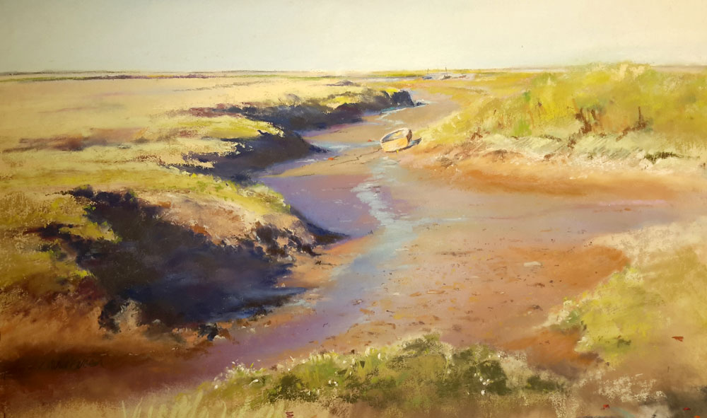 Tide Out, Brancaster Staithe – Pastel