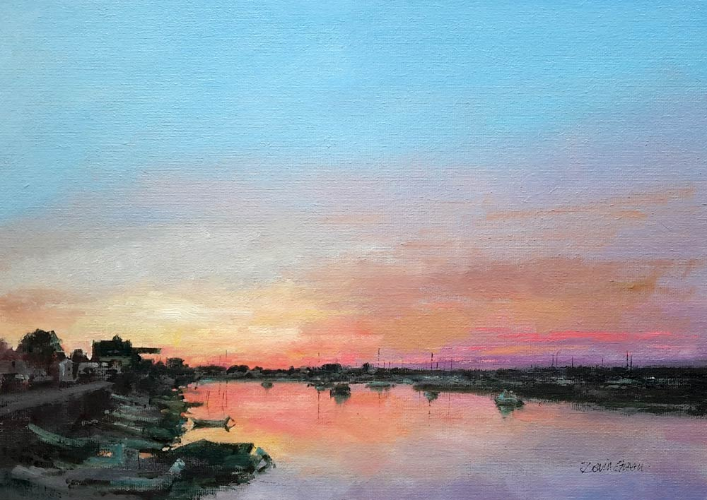 Sunset at Wells – Oil