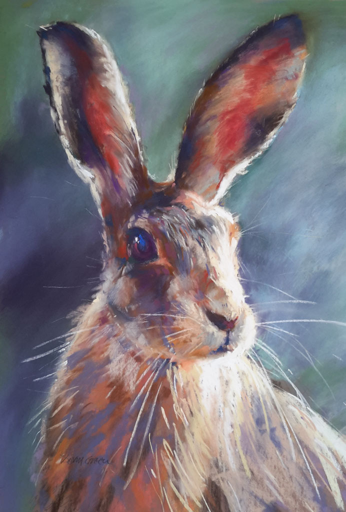 Hare's looking at you – Pastel